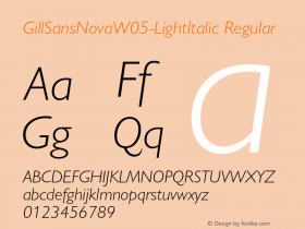 GillSansNovaW05-LightItalic