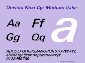 Univers Next Cyr