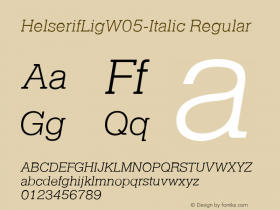 HelserifLigW05-Italic