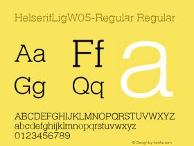 HelserifLigW05-Regular