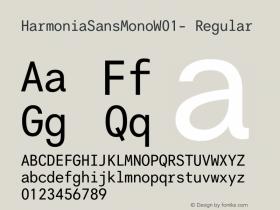 HarmoniaSansMonoW01-