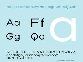 HendersonSansW05-Regular