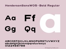 HendersonSansW05-Bold
