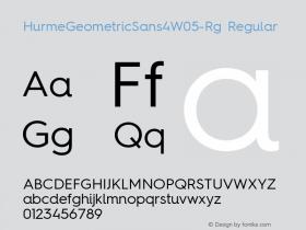 HurmeGeometricSans4W05-Rg