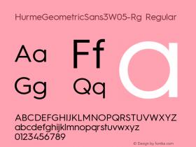 HurmeGeometricSans3W05-Rg