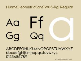 HurmeGeometricSans1W05-Rg