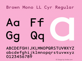 Brown Mono LL Cyr