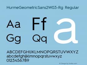 HurmeGeometricSans2W03-Rg