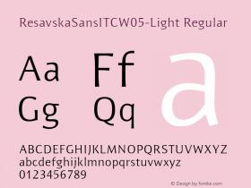 ResavskaSansITCW05-Light