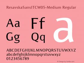 ResavskaSansITCW05-Medium