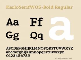 KarloSerifW05-Bold