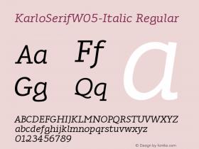 KarloSerifW05-Italic