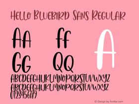 Hello Bluebird Sans