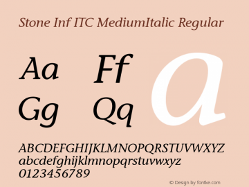Stone Inf ITC MediumItalic