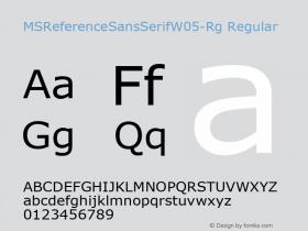 MSReferenceSansSerifW05-Rg