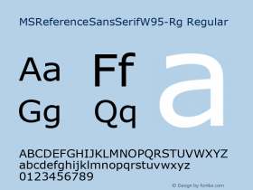 MSReferenceSansSerifW95-Rg