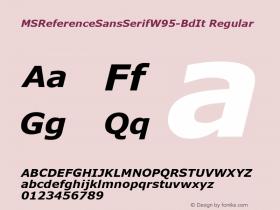 MSReferenceSansSerifW95-BdIt