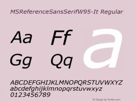 MSReferenceSansSerifW95-It