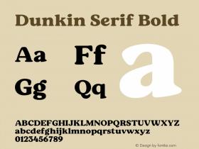 Dunkin Serif