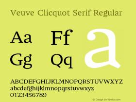 Veuve Clicquot Serif