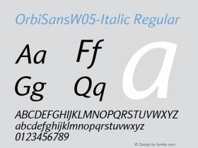 OrbiSansW05-Italic