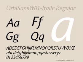 OrbiSansW01-Italic