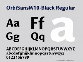 OrbiSansW10-Black