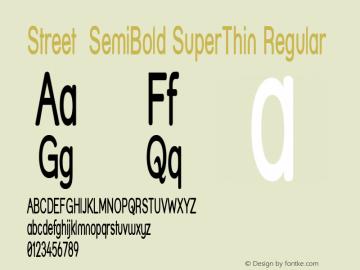 Street SemiBold SuperThin