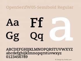 OpenSerifW05-Semibold