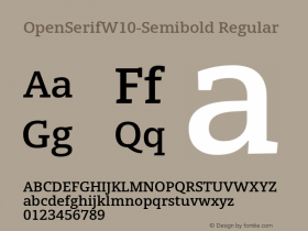 OpenSerifW10-Semibold