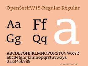 OpenSerifW15-Regular
