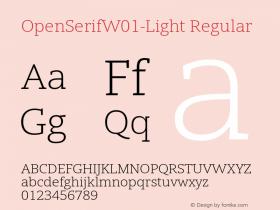 OpenSerifW01-Light