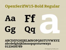 OpenSerifW15-Bold