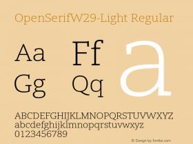 OpenSerifW29-Light