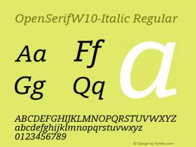 OpenSerifW10-Italic