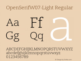OpenSerifW07-Light