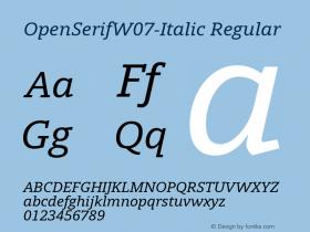 OpenSerifW07-Italic
