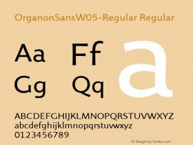 OrganonSansW05-Regular