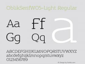 OblikSerifW05-Light