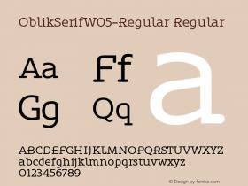 OblikSerifW05-Regular