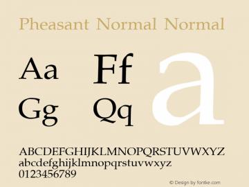 Pheasant Normal