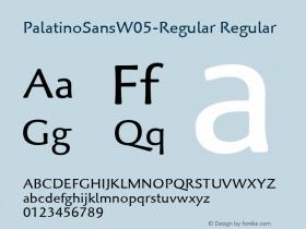 PalatinoSansW05-Regular