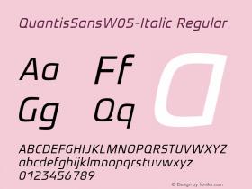 QuantisSansW05-Italic
