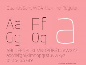QuantisSansW04-Hairline