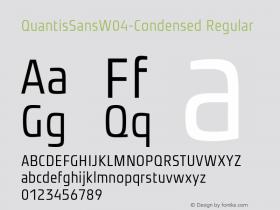 QuantisSansW04-Condensed