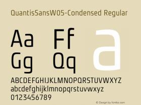 QuantisSansW05-Condensed