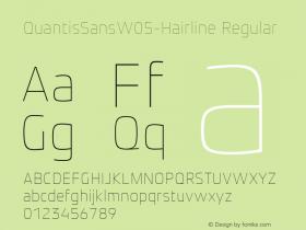 QuantisSansW05-Hairline