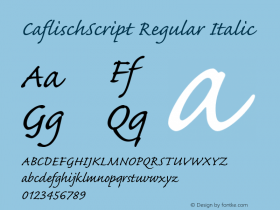 CaflischScript Regular