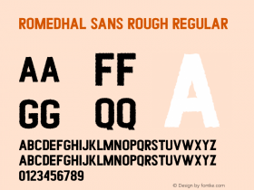 Romedhal Sans Rough
