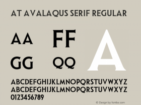 AT Avalaqus Serif